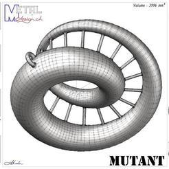 Moebius_Pendant-Présentation.jpg Download free STL file Mutant • 3D printable template, albertkarlen