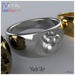 Alchi-ring_.jpg Download free STL file AlchiRing N°2 • 3D printer template, albertkarlen