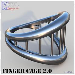 Bague_N57-Présentation.jpg Download free STL file Finger Cage 2.0 • Object to 3D print, albertkarlen