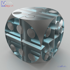 Descargar Modelos 3D para imprimir gratis Puzzle dé, albertkarlen