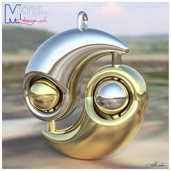 Pendentif_Yin-Yang-Shapetizer.jpg Download free STL file Yin-Yang pendant • 3D printer design, albertkarlen