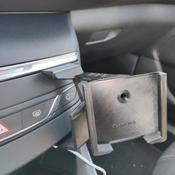 Download 3D printing templates Peugeot 308 smartphone support, JK2R