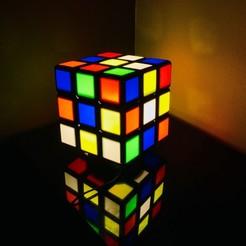 Download free 3D model Rubiks Lamp, funkTLS