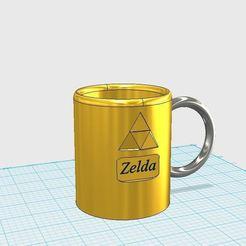 Descargar STL gratis Mug Zelda, link62
