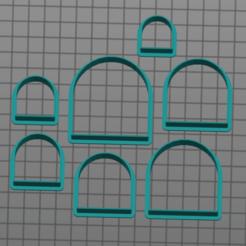 Screen Shot 2020-09-08 at 10.04.48 AM.png Download STL file Arch shape cutter set • 3D printing model, horsebytes