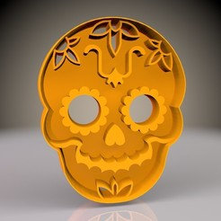1.jpg Download STL file Halloween Skull Cookie Cutter • Object to 3D print, Phlegyas