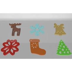 IMG_8087.jpg Télécharger fichier STL Kit 6 décorations de Noël • Modèle pour impression 3D, Phlegyas