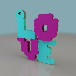 LOVECHAIN.jpg Download STL file Valentine's Day love keychain • 3D printing template, Phlegyas