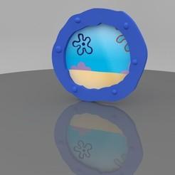 Presentación.jpg Télécharger fichier STL Ornement de fenêtre de Bob l'éponge • Design imprimable en 3D, Phlegyas