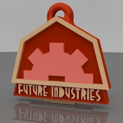 1.jpg Download STL file Future Industries Keychain • 3D printing object, Phlegyas
