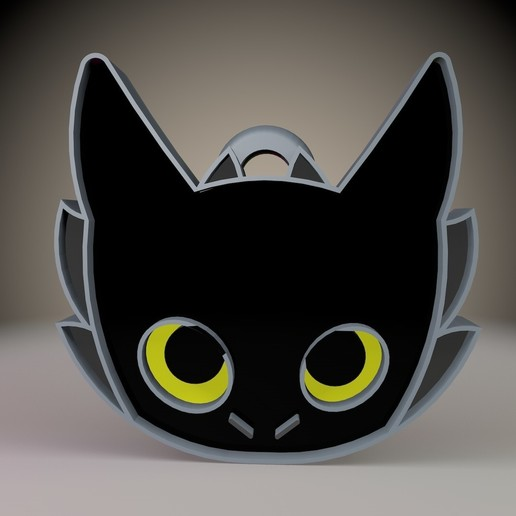 1.jpg Download STL file Toothless Keychain How to train your dragon • 3D printable object, Phlegyas
