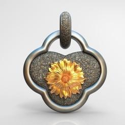 Impresiones 3D Colgante de flor de gesang, alipei008