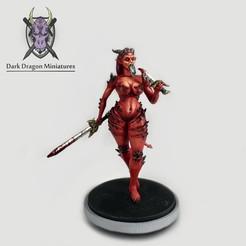 Demon Hero Art copy.jpg Télécharger fichier STL Héros démoniaque miniature (DND, WARHAMMER, KINGDOM DEATH, PATHFINDER, MINI) • Modèle pour imprimante 3D, darkdragonminiatures