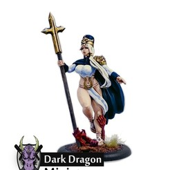 Descargar modelos 3D Miniatura de la Sacerdotisa Pinup (dnd, warhammer, kingdom death, pathfinder, mini), darkdragonminiatures
