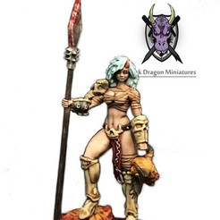 PerfectSlayerArt.jpg Télécharger fichier STL Miniature de Perfect Slayer (Barbare, MDN, Warhammer, Kingdom Death, Pathfinder, Mini) • Modèle pour impression 3D, darkdragonminiatures