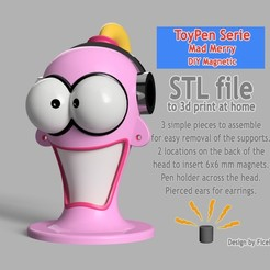 Miniature.jpg Download STL file MadMerry, pen holder, sewing, shop • 3D printing object, Ficel