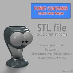CSK_Miniature.jpg Télécharger fichier STL gratuit Distributeur coton tige, pot à crayon • Modèle pour impression 3D, Ficel