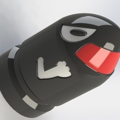 Télécharger fichier STL Bullet Bill (mode vase), MikiMan