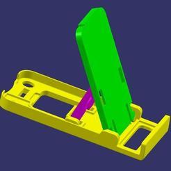 CATIA 2.JPG Télécharger fichier STL SUPPORT POUR SMARTPHONE • Design pour impression 3D, AlexVG
