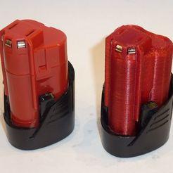 P1220587.JPG Télécharger fichier STL gratuit Mallette de la batterie M12 de Milwaukee • Plan à imprimer en 3D, ksuszka