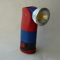 P1220485.JPG Download free STL file Parkside 12V flashlight with adjustable head • 3D printing design, ksuszka