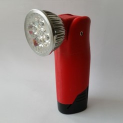 o2.jpg Download free STL file Milwaukee M12 flashlight with adjustable head • 3D printer template, ksuszka
