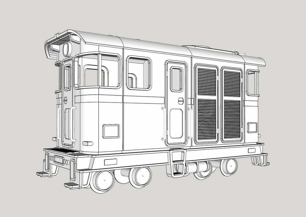 kato_11-105106107_NH0e_1.jpg Télécharger fichier STL gratuit H0e Locomotive LSM 03 / Kato 11-105 11-106 11-107 N>H0e • Design imprimable en 3D, makobe