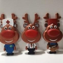Download free 3D printer designs Baby Reindeer Dress ups, cmtm