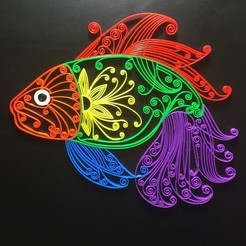 IMG_0516.JPG Download free STL file Fish  ( Quilling Style ) • 3D printer model, cmtm
