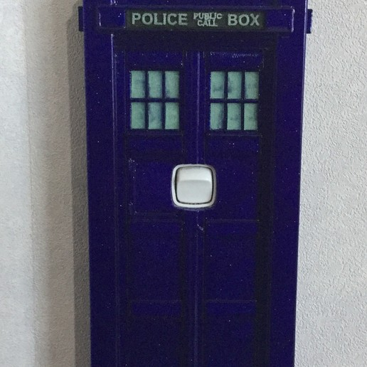 Download free STL files TARDIS Light switch cover (NZ), cmtm