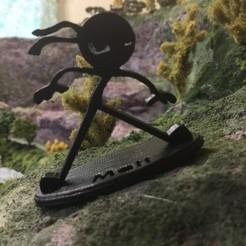 Télécharger fichier impression 3D gratuit Ninja en stickman avec base, cmtm