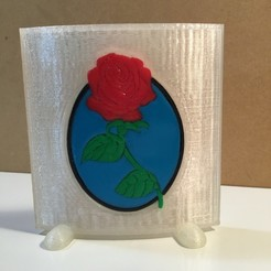 Download free STL file Set In Glass ( Rose ) • Object to 3D print, cmtm