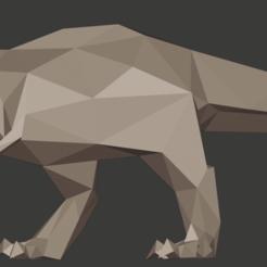 1.png Télécharger fichier STL Poly T-Rex faible • Design à imprimer en 3D, kazeshini5