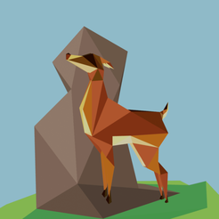 Download free 3D printing files Low Poly Deer, kazeshini5