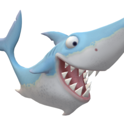Untitled.png Download STL file shark • 3D printing object, walidemad