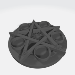 velas pentaculo hasturkaos.png Download STL file Wicca candle holder • Model to 3D print, hasturkaos
