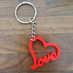 coeur.jpg Télécharger fichier STL Porte-clef coeur • Objet à imprimer en 3D, Issue3D