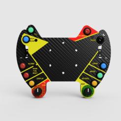 Button_Box_2020-Aug-18_12-38-56AM-000_CustomizedView8381088472.png Download STL file Porsche 911 GT3 R Button Plate • 3D print design, R_Racing