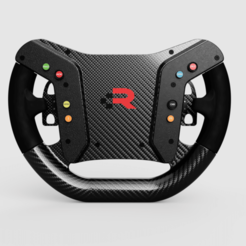 V2_2020-Aug-23_03-17-35AM-000_CustomizedView19004660020.png Download STL file Porsche Cayman GT4 Steering Wheel • Template to 3D print, R_Racing
