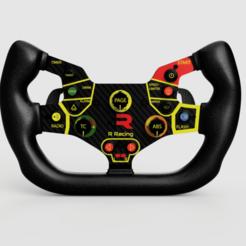 R8_3D_2020-Aug-18_01-36-52AM-000_CustomizedView16457595208.png Télécharger fichier STL Volant de l'Audi R8/Lamborghini Huracan GT3 • Plan pour impression 3D, R_Racing