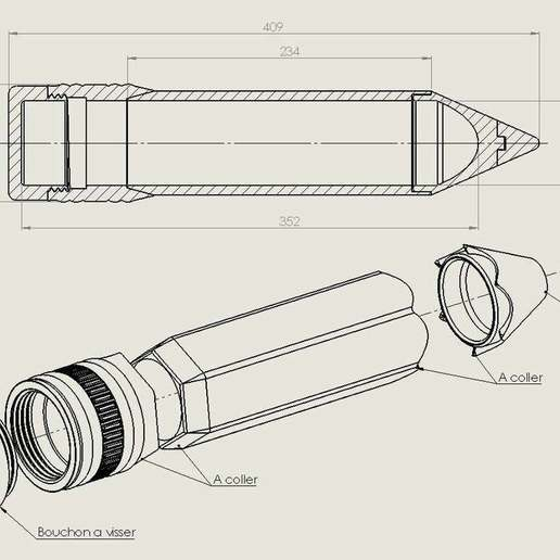 3.jpg Download free STL file Big pen box • 3D print template, Lyryln