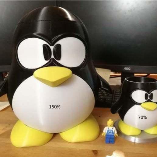 Download free 3D print files Tux pen holder - pencil case - trash bin, Lyryln