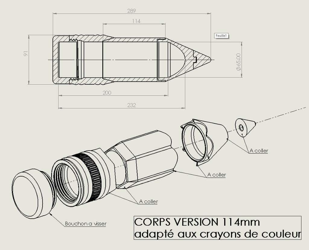 5.jpg Download free STL file Big pen box • 3D print template, Lyryln