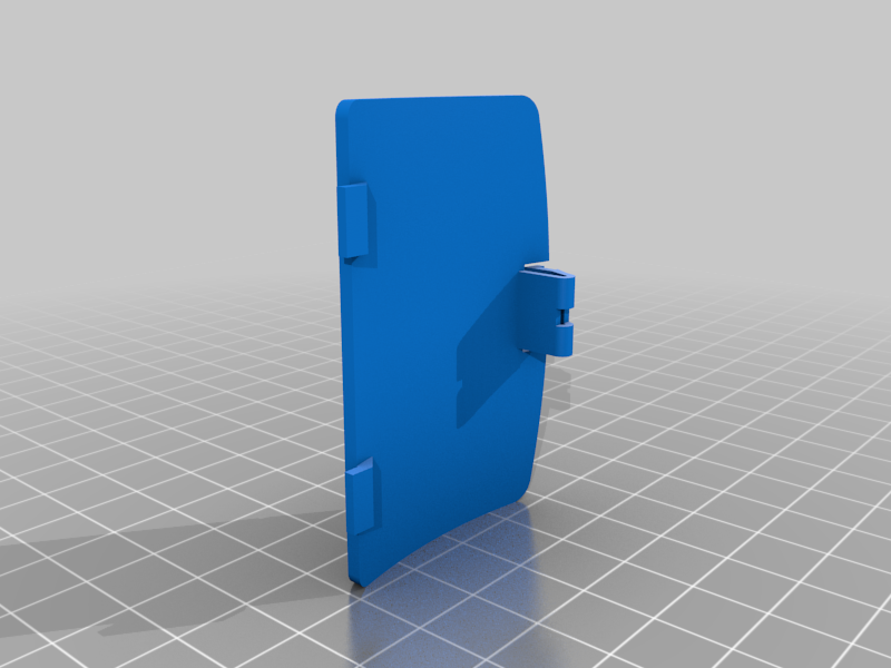 Cache_pile.png Download free STL file Battery cover Gameboy color • 3D printer model, Lyryln