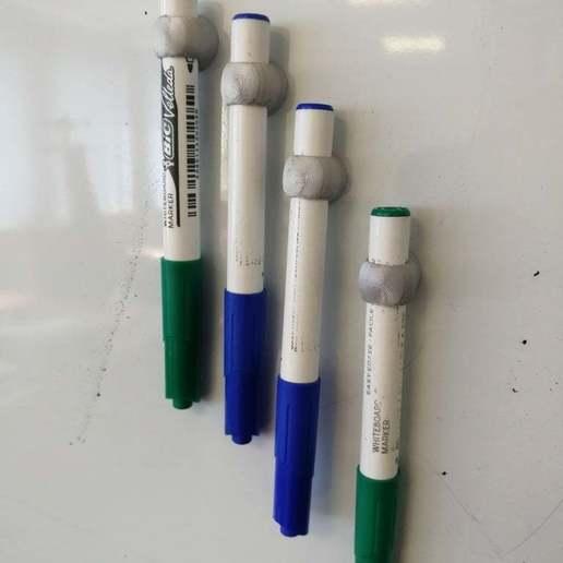 Download free 3D printer designs magnetic velleda marker holder for whiteboard, Lyryln