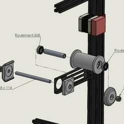 claté.jpg Download free STL file Spool holder with 608 bearing Ender 5 / Ender 3 • 3D print model, Lyryln