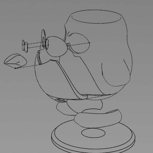tux_eclaté.jpg Download free STL file Tux pen holder - pencil case - trash bin • Template to 3D print, Lyryln