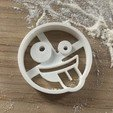 Download STL file Crazy Tongue Funny Emoji Cookie Cutter 55x57mm • 3D printing template, AW95