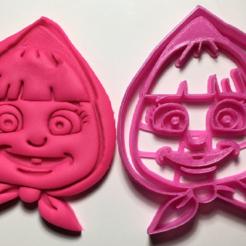 Descargar modelos 3D para imprimir cookie cutter masha y el oso, garma10