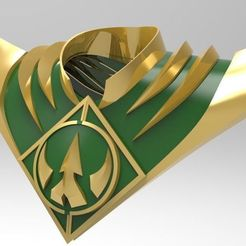 shield.jpg Download STL file Power rangers - Lord Drakkon Shield • 3D print model, Hiken_industries
